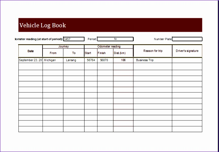 6 Personal Medical Health Record Sheet - ExcelTemplates - ExcelTemplates - trip log sheet
