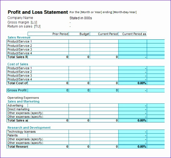 12 Profit  Loss Excel Template - ExcelTemplates - ExcelTemplates - Profit And Loss Template Word