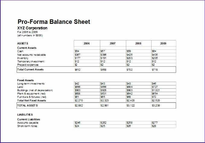 Proforma Balance Sheet Hmzgk Elegant Corporate Tax Calculator