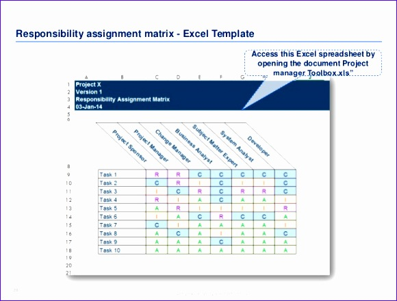 responsibility assignment matrix excel template 3slufsluidsprekers