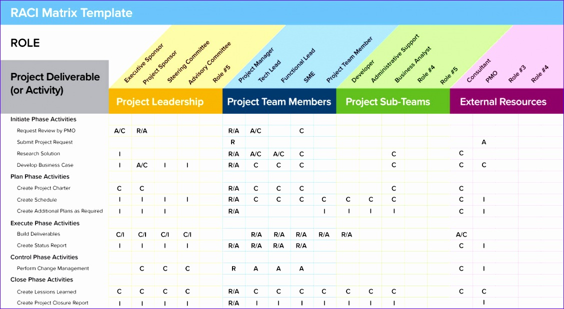 10 Roles and Responsibilities Matrix Template Excel - ExcelTemplates - project roles and responsibilities matrix templates