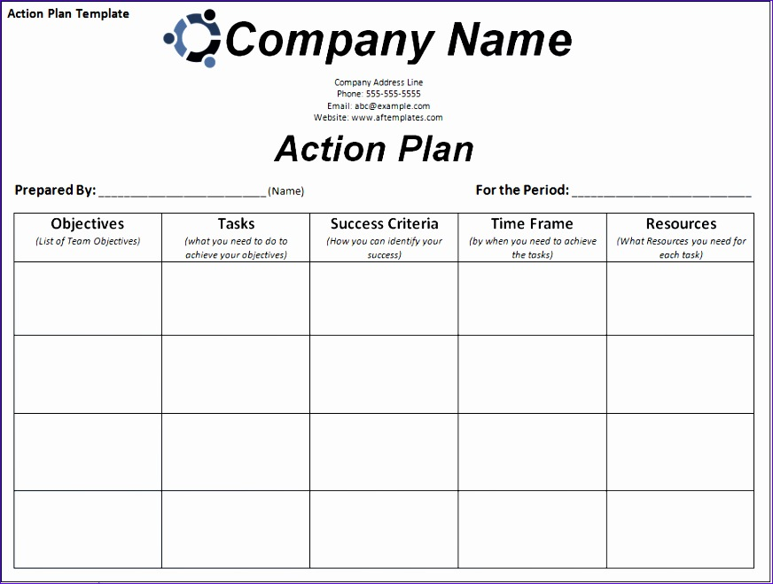 Sample Action Plan Template Excel H8owy Inspirational Free Action
