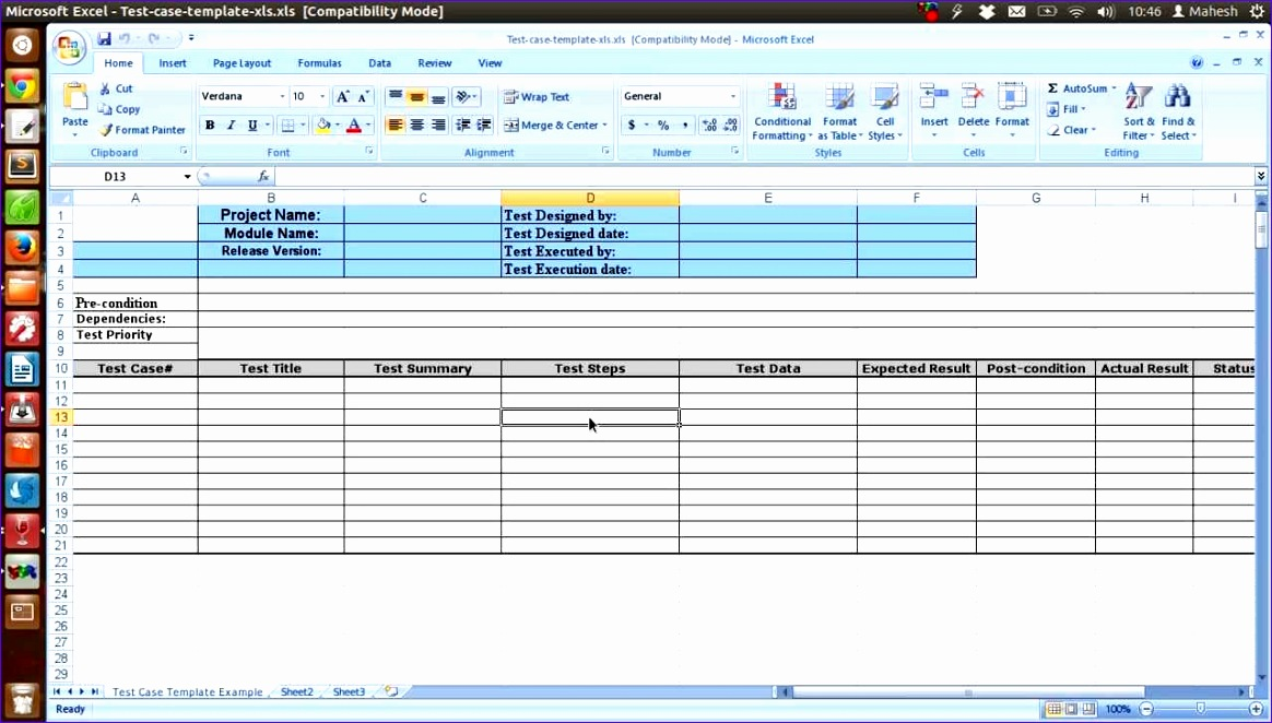 12 software Test Plan Template Excel - ExcelTemplates - ExcelTemplates