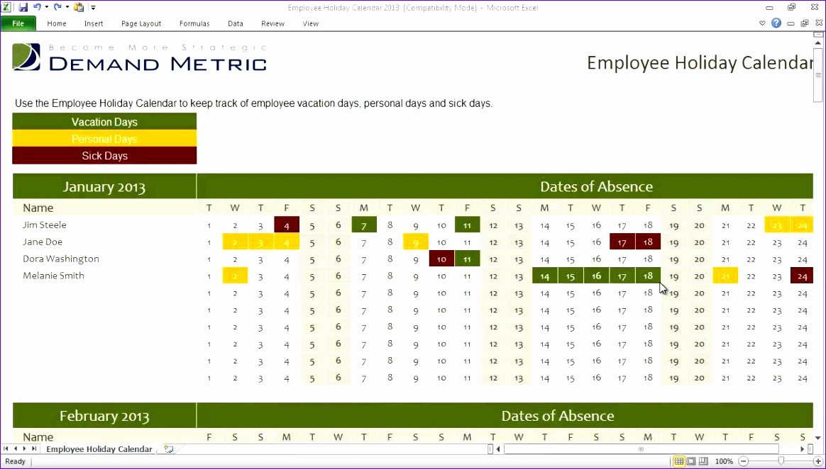 Employee Review Template Excel - mandegarinfo