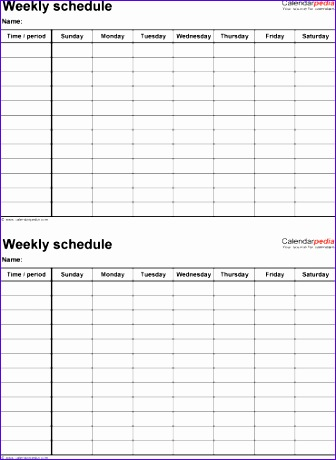 Study Schedule Template Excel Jjfvl Fresh Free Weekly Schedule - weekly study schedule