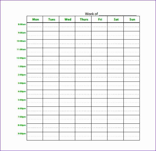 Study Schedule Templates Choice Image - Template Design Ideas