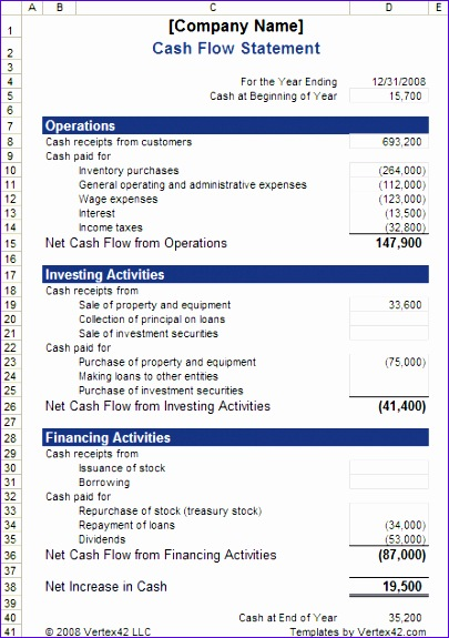 9 Uca Cash Flow Excel Template - ExcelTemplates - ExcelTemplates