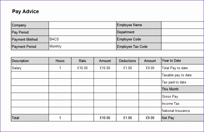 Exelent Online Payslip Template Images - Resume Ideas - bayaarinfo