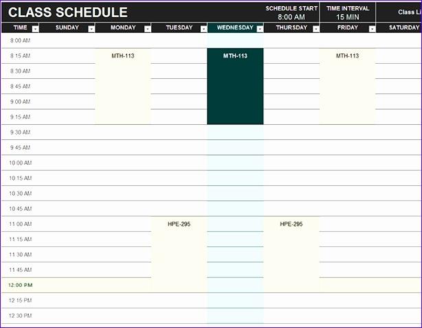 Volunteer Schedule Template Excel Oakandale
