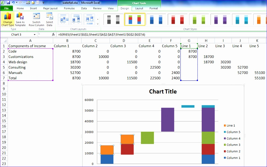 √ Waterfall Template Excel 2010 Vhhl5 Awesome Waterfall