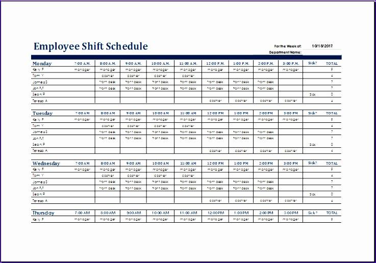 Weekly Time Planner Bglhv Elegant Employee Shift Schedule Template