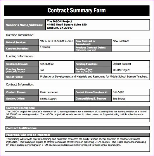 ... Excel Spreadsheet Example Xhbdc Unique Sample Contract Summary ...
