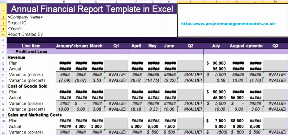 5 Monthly Financial Statement Template Excel - ExcelTemplates