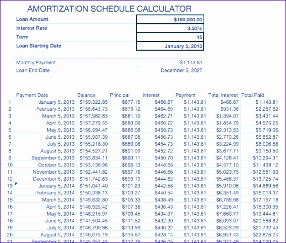 Monthly Amortization Schedule Calculator best online amortization - monthly amortization schedule calculator