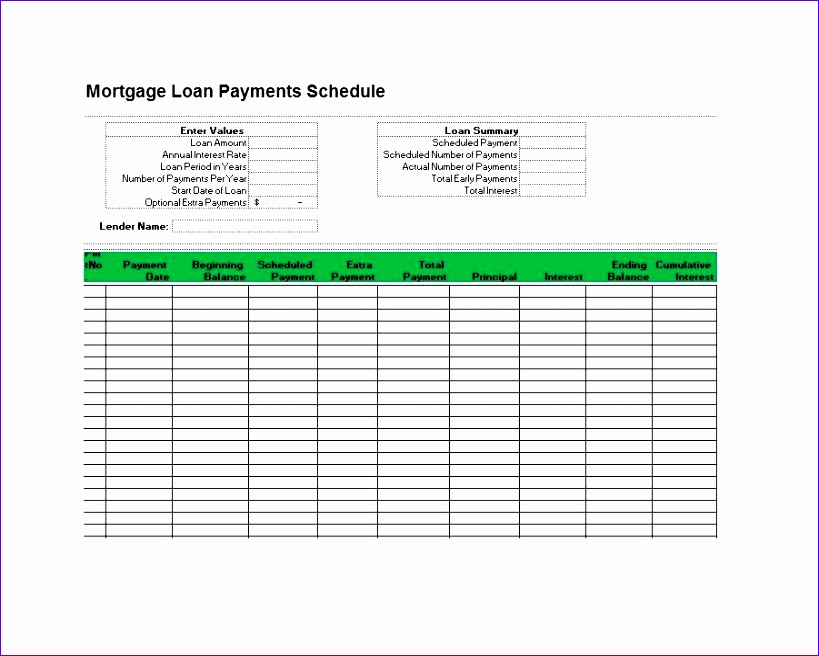 8 Amortization Schedule Excel Template - ExcelTemplates - ExcelTemplates