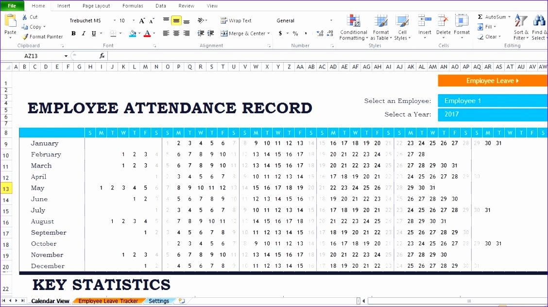 Attendance Sheet Excel Template Tfaal Inspirational Employee - attendance sheet excel template