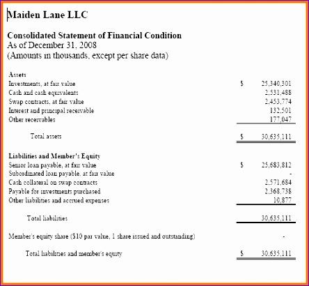 llc balance sheet example - Intoanysearch