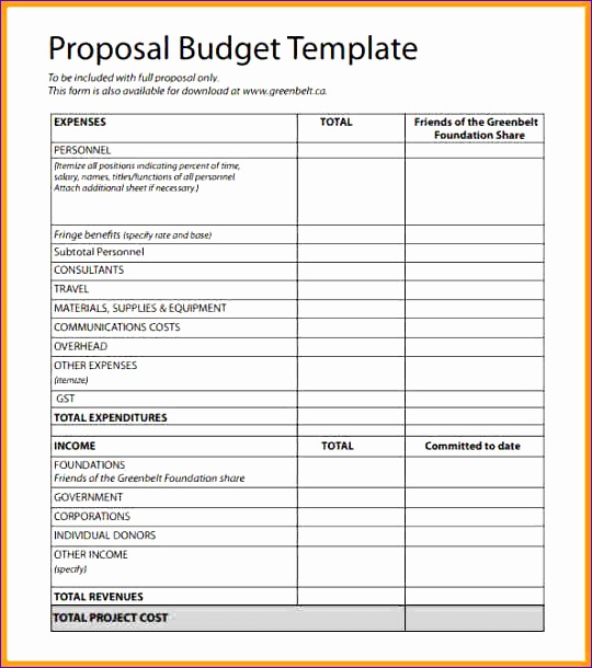 6 Budget format Template Excel - ExcelTemplates - ExcelTemplates