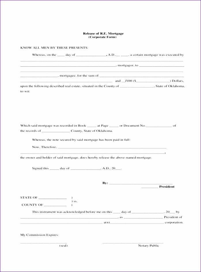 Checklist Templates Excel Jtqjr Lovely Sky Zone Waiver form 5 Free - satisfaction of mortgage form