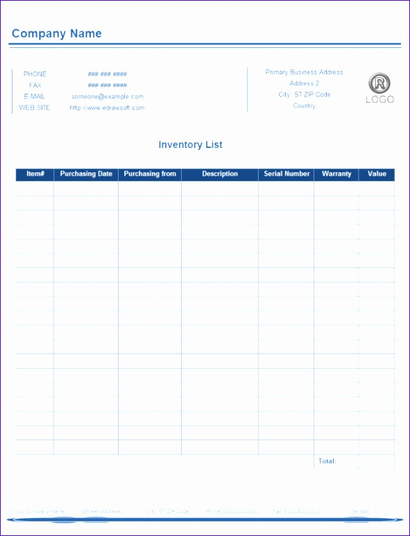Depreciation Template Excel Tsexd Awesome 24 Free Inventory