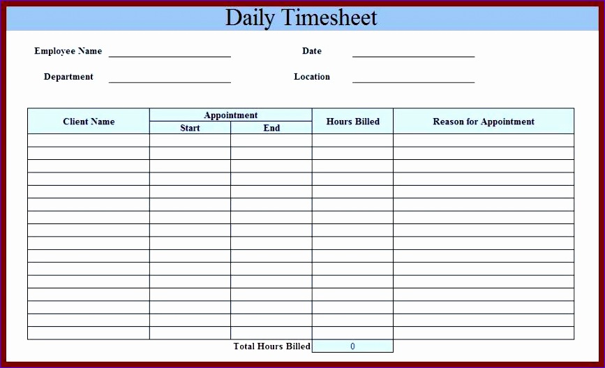 Time Sheet Template Excel Weekly Timesheet Template With Formulas