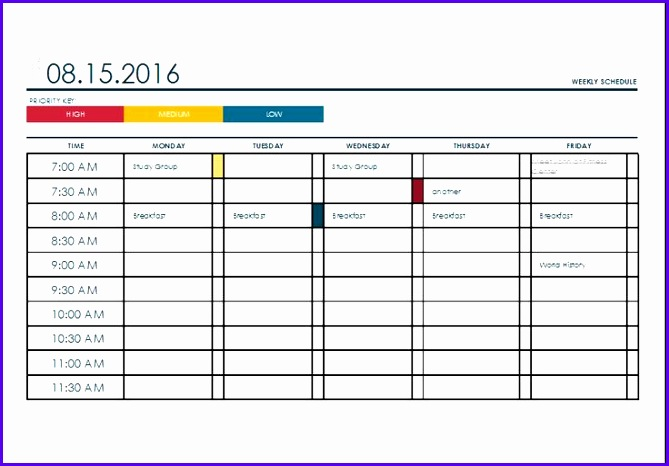 Sample Excel College Schedule Template Rasg4 New Excel College - college schedule template
