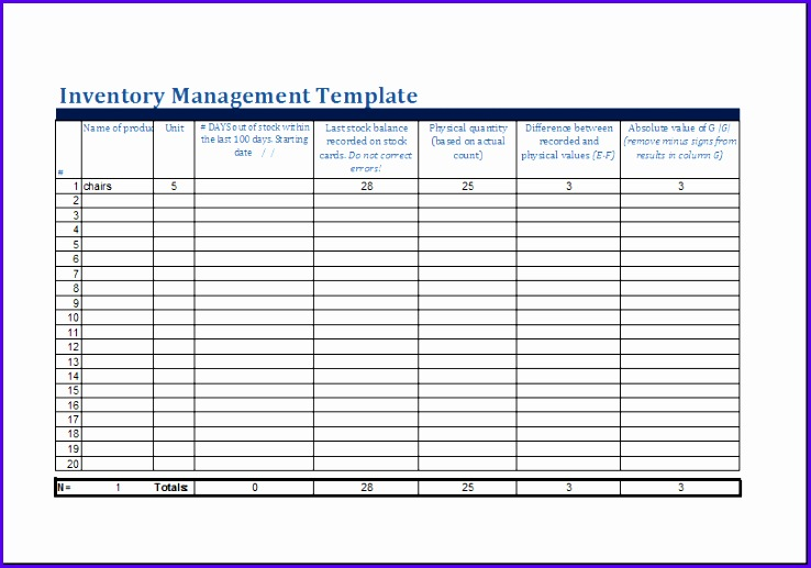 Inventory Spreadsheet Template Free | ophion.co