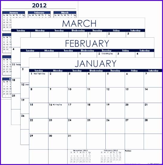14 Excel Vacation Calendar Template - ExcelTemplates - ExcelTemplates