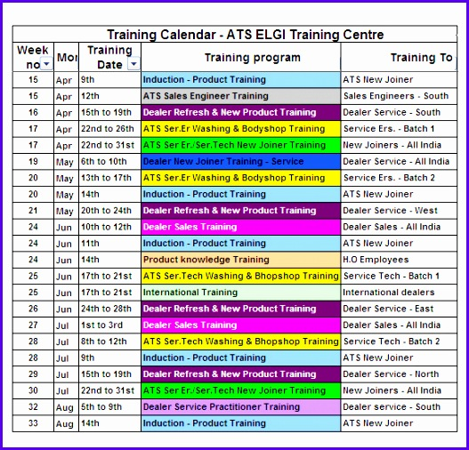 5 Quarterly Calendar Template Excel - ExcelTemplates - ExcelTemplates