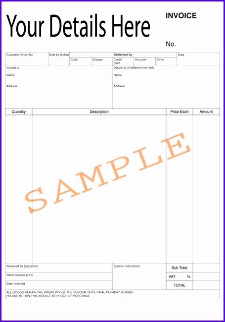 sample invoice template uk