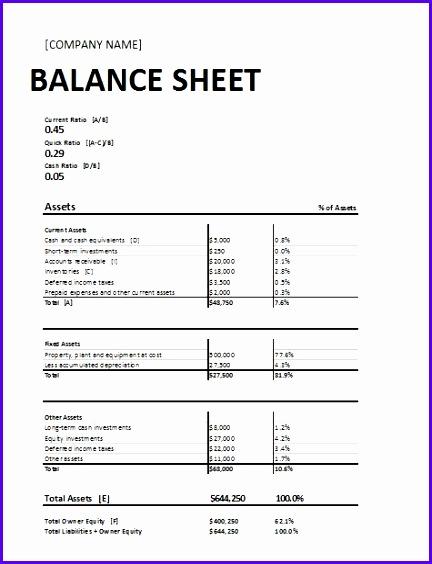 10 Excel Balance Sheet Template Free - ExcelTemplates - ExcelTemplates - free printable balance sheet template