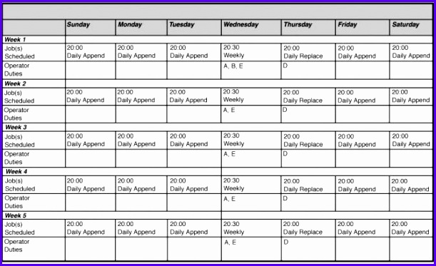 monthly employee work schedule template excel - Baskanidai