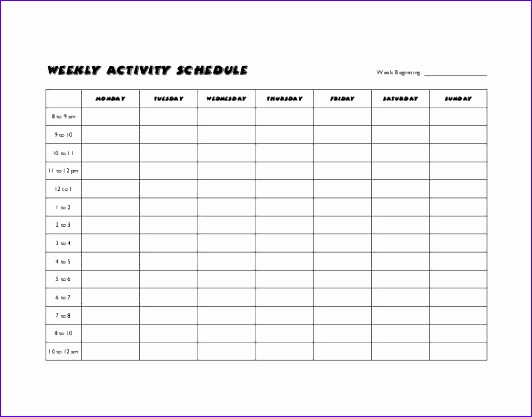 Sample Activity Calendar Template Best Schedule Templates Ideas On