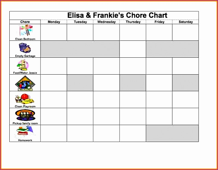 Excel Charts Templates Idcsb Inspirational Excel Chore Chart