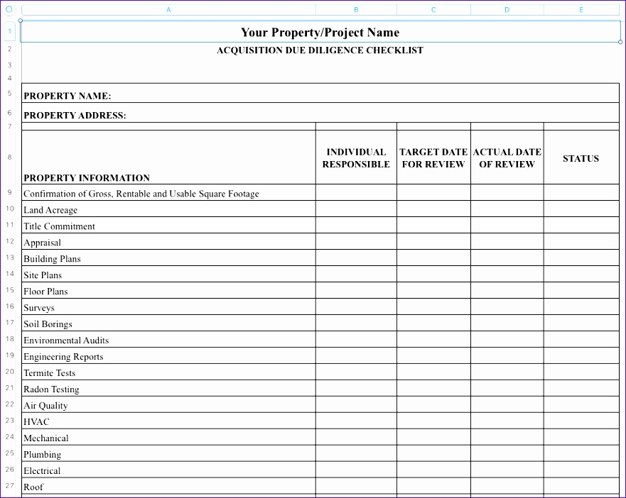 14 Excel Checklist Template - ExcelTemplates - ExcelTemplates