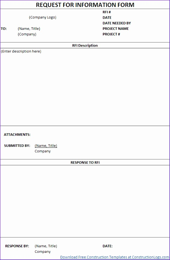 Construction Form Templates - Fiveoutsiders - construction form templates