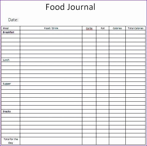Excel Food Diary Template Hdash Best Of 21 Free Food Journal - free food journal templates