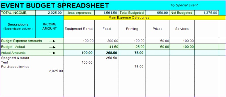 income and expenses excel template