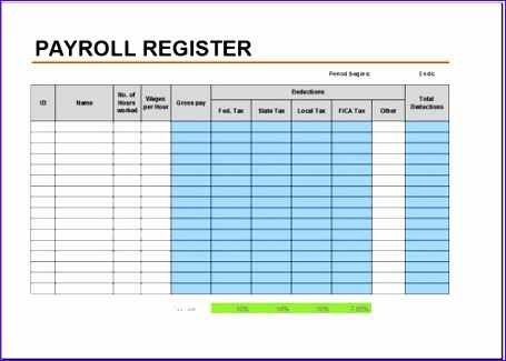 Excel Invoice Template 2007 Yyxan Beautiful Free Payroll Register - payroll register template
