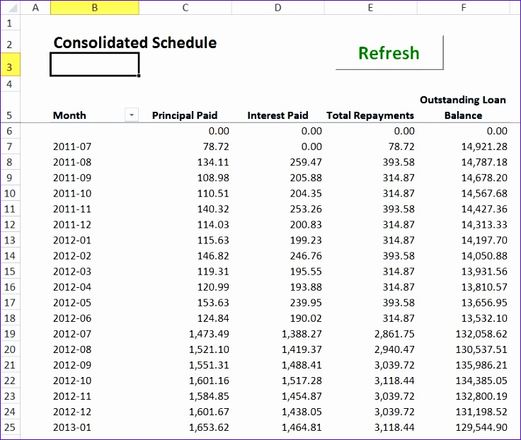 Loan Calculator Template Student Loan Repayment Excel Template Loan - loan calculator template