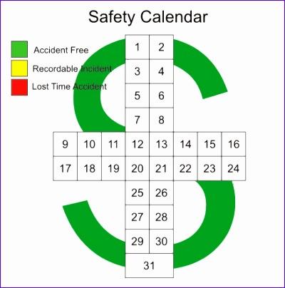 Excel Monthly Calendar Templates G32yf Inspirational Safety Cross