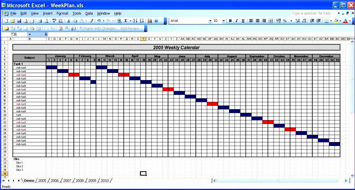 6 Excel Perpetual Calendar Template - ExcelTemplates - ExcelTemplates