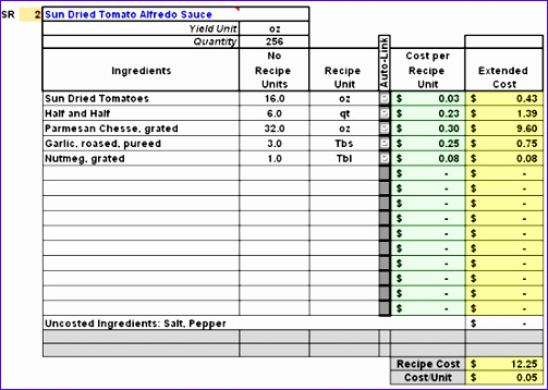 Excel Recipe Card Template S3dpf Beautiful Restaurant Inventory