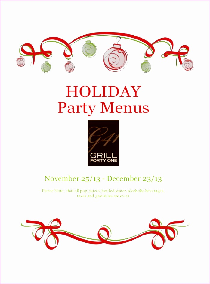 Excel Report Templates Free Download Gglal Elegant Holiday Menu