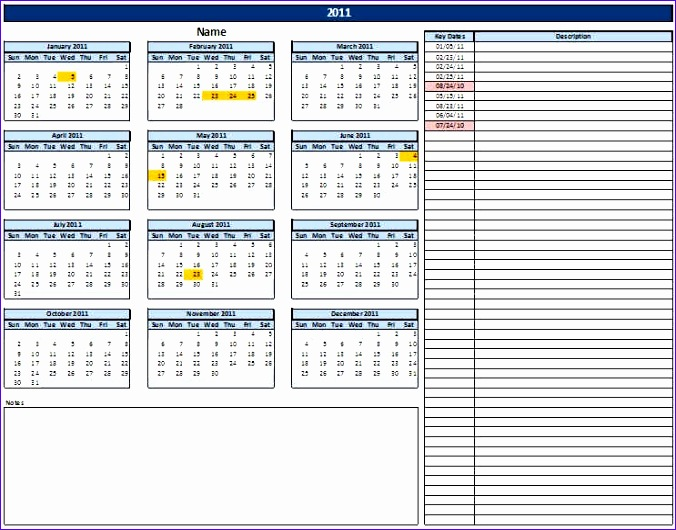 Excel Spreadsheet Templates Download Xntad Beautiful Calendar with - important dates template