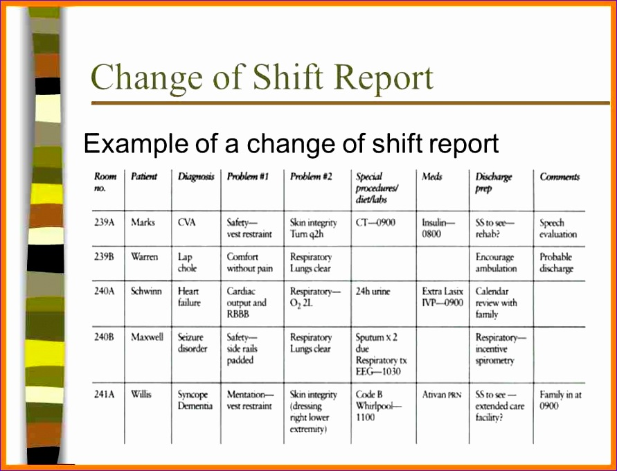Excel Template Daily Schedule B7yll Lovely Shift Report Template