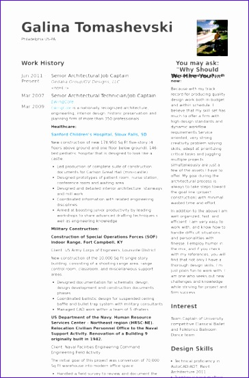 access resume database template