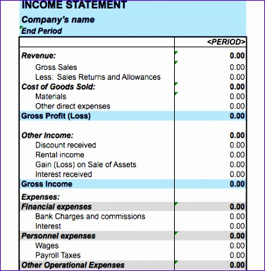 10 Excel Template Income Statement - ExcelTemplates - ExcelTemplates