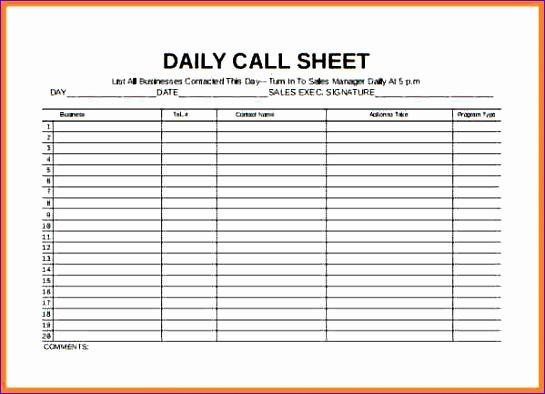 Excel Templates Budget Jdkg4 Unique 4 Sales Call Log Spreadsheet - budget log