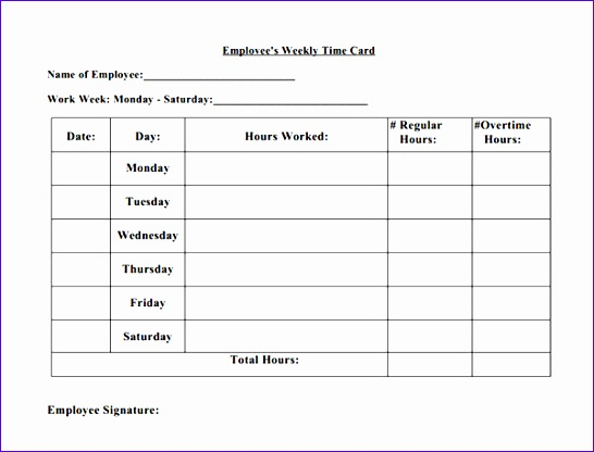 Excel Time Card Template Mxjdg Unique 15 Time Card Calculator